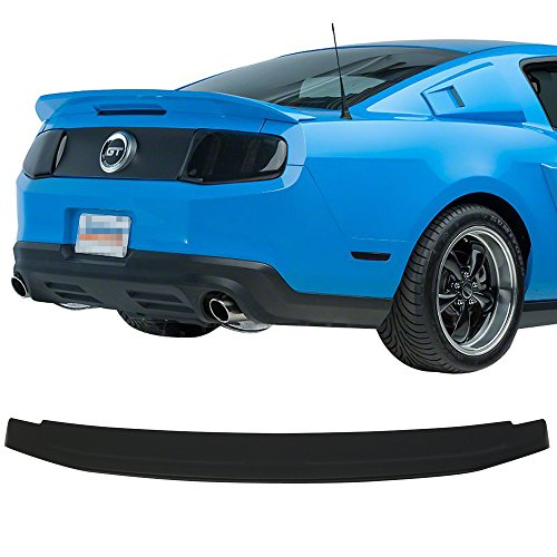 - Trunk Spoiler Fits 2010-2014 Ford Mustang | Factory Style ABS Unpainted Black Flush Mount Trunk Boot Lip Spoiler Wing Deck Lid Other Color Available By IKON MOTORSPORTS | 2011 2012 2013