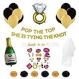 Bachelorette Party Decorations Bridal Shower Decorations Champagne Balloon Bride Banner Bride to be sash Bridal Shower Photo Props Bridal Balloons Bridal Party sash Bridal Veil