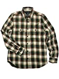Gild Classic Fit Man Shirt 100% Cotton Casual Long Sleeve, Blue Spruce Check S