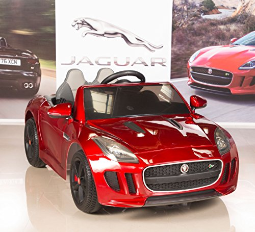 Jaguar F-TYPE 12V Kids Ride On Battery Powered Wheels Car with 2.4GHz RC Remote, Red
