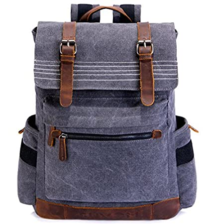8745d8b70a7d Image Unavailable. Image not available for. Color  SUVOM Canvas Backpack ...
