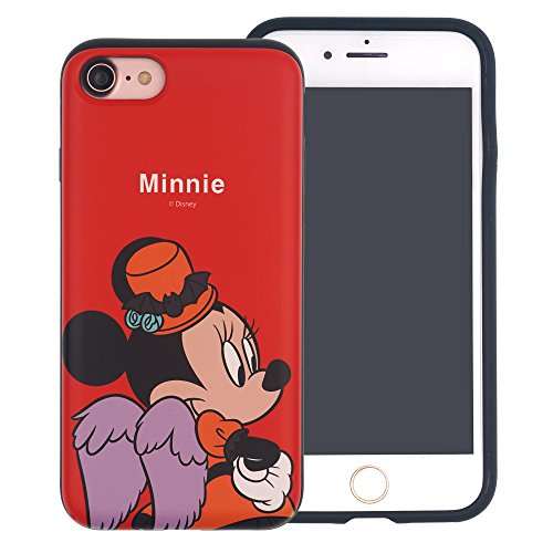 Funda iPhone 7 [Protección híbrida contra caídas] DISNEY Mickey Mouse Linda Doble Capa Hybrid Carcasas [TPU + PC] Parachoques Cubierta para [ Apple iPhone7 ] - Mickey Mouse Smile Festival Minnie Mouse (iPhone 8 / iPhone 7)