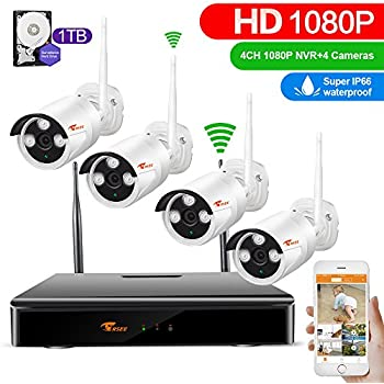 Amazon Com Reolink 1080p Wireless Security Camera System