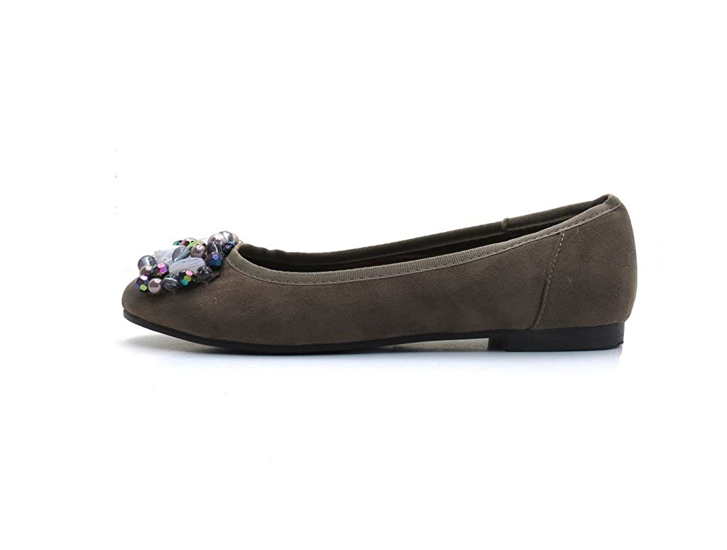 Dolce Vita Ballerina Damen Schuhe Slipper Sommerschuhe 4025 Braun