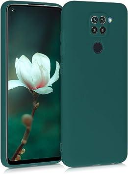 Carcasa de TPU Silicona kwmobile Funda Compatible con Xiaomi Redmi 9 Protector Trasero en Negro Mate
