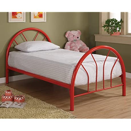 Coaster 2389R Contemporary Twin Bed Red