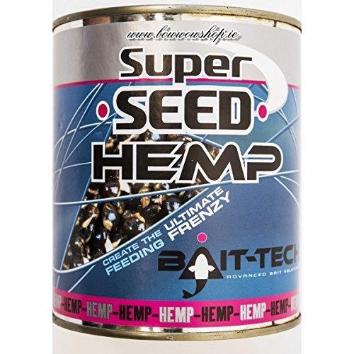Bait Tech Super Seed Hemp Tinned Loose Feed Natural Carp Fishing Bait 350G By Bait Tech