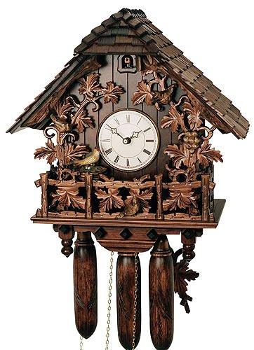 Alemán Reloj de cuco - estilo Chalet - mecanismo con cuerda para 8 días - 50