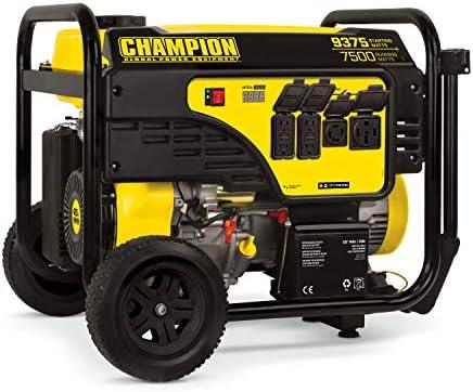 Champion Power Equipment 100538 9375 7500-Watt Portable Generator with Electric Start