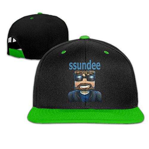 M Angel Adjustable Funny Ssundee Logo Hip Hop Baseball Cap One Size Kellygreen
