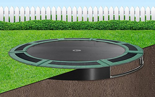 Flatground trampolin Capital Play 305 Grün Bodentrampolin