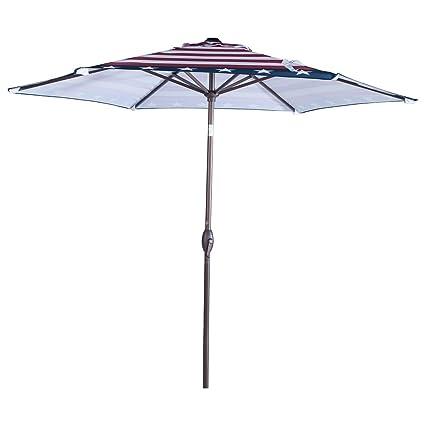 Etonnant Abba Patio Striped Patio Umbrella 9 Feet Outdoor Market Table Umbrella With  Push Button Tilt