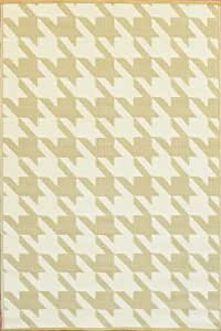 Mad Mats® Hounds Tooth Indoor/Outdoor Floor Mat, 5 by 8-Feet, Cream and Umber