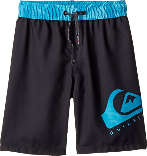 Quiksilver Boys' Big Lava Logo Volley Youth Short, Black, ()