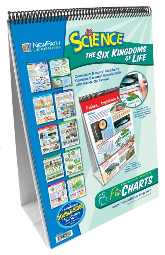 newpath-learning-10-piece-science-six-kingdoms-of-life-curriculum-mastery-flip-chart-set-grade-6-9