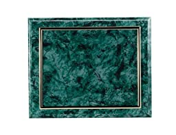 Certificate Plaque Board with Gold Raised Border Slide in Plexi Glass, Green