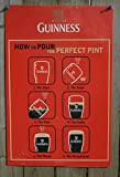 Guinness 12X18 How to Pour the Perfect Pint Metal Beer Sign