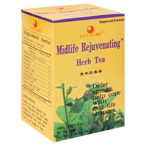 Health King  Midlife Rejuvenating Herb Tea, Teabags, 20-Count Box (Pack of (Midlife Rejuvenating Herb Tea)