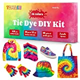 DIY Tie Dye Kits, 26 Colors Fabric Dye Kit for Kids, Adults and Groups, Non-Toxic Tie Dye Supplies for Party, Gathering, Festival, User-Friendly, Add Water Only Perfect Thanksgiving Christmas Gift: more info