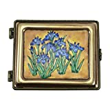 Jewelry Box by Kelvin Chen, Japanese Iris Enameled Miniature Organizer
