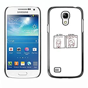 CASEMAX Slim Hard Case Cover Armor Shell FOR Samsung Galaxy S4 Mini i9190 - Funny - DEAD INSIDE COMIC