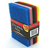 60 Multi-colored scouring pads
