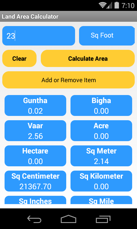 Amazon com: Land Area Calculator: Appstore for Android
