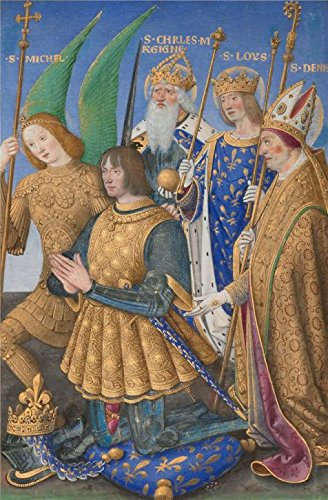 'Louis XII Of France Kneeling In Prayer, 1499 By Jean Bourdichon' Oil Painting, 16x24 Inch / 41x62 Cm ,printed On High Quality Polyster Canvas ,this Best Price Art Decorative Canvas (Louis The 16th Costume)