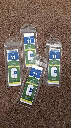 Cruise Luggage Tag Holder Zip Seal & Steel - Royal Caribbean & Celebrity Cruise (Clear - 4 Pack) by Highwind (Image #4)