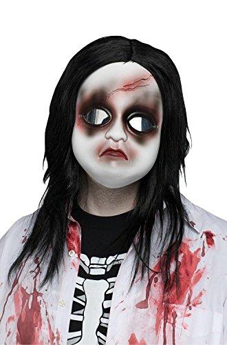 Fun World Women's Doll Face/Freaky Mask W/Hair, Multi Standard