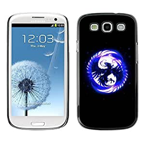 GagaDesign Phone Accessories: Hard Case Cover for Samsung Galaxy S3 - Blue Phoenix In Moon