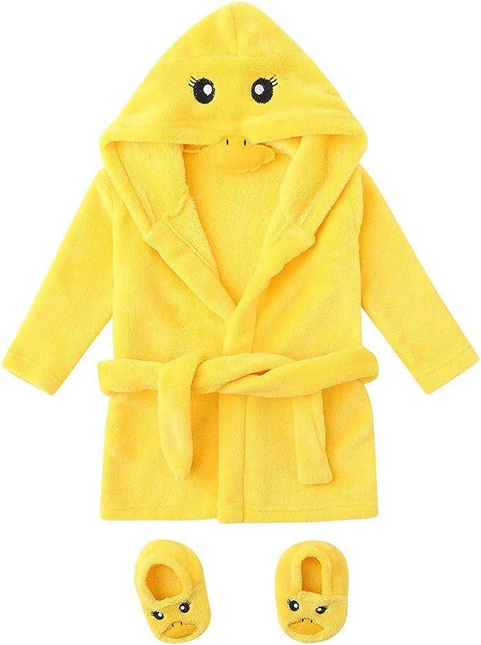 Baulody Toddler Fall Winter Fleece Coat Jacket Baby Girls Cartoon Floral Print Warm Hooded Coat Tops