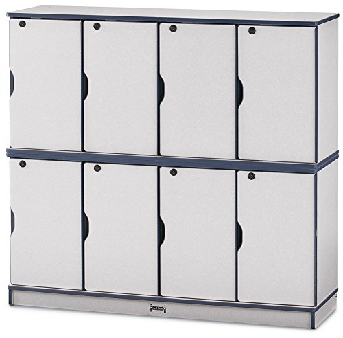 Rainbow Accents 4696JC007 Stacking Lockable Lockers, Double Stack, ()
