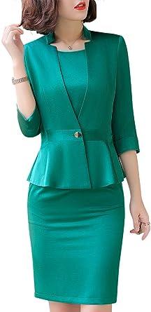 SUSIELADY Faldas de Negocios para Mujer, Conjunto de Trajes de ...