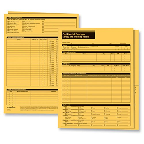 ComplyRight CR Confidential Employee Safety and Training Record Folder by ComplyRight