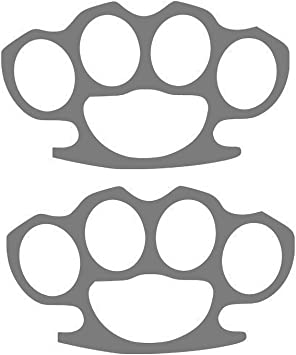Brass Knuckles 4.5 x 7 Car decal  ANY COLOR