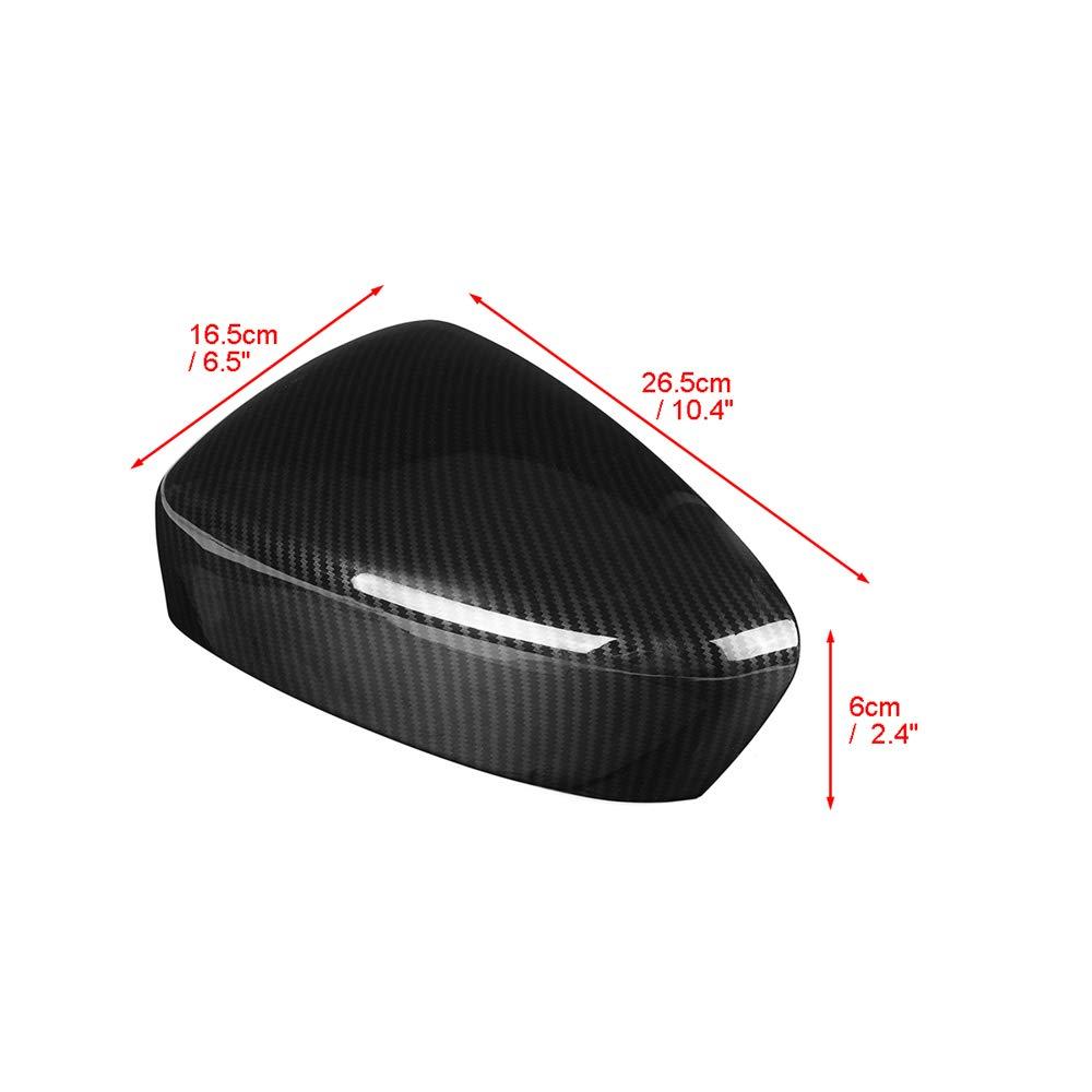 BANIKOP 1Pair///Fibra del Carbonio dellautomobile Specchio retrovisore ABS Colore Porta Specchietto Laterale di Shell della Copertura per Mazda CX5 CX5 2012 2013 2014