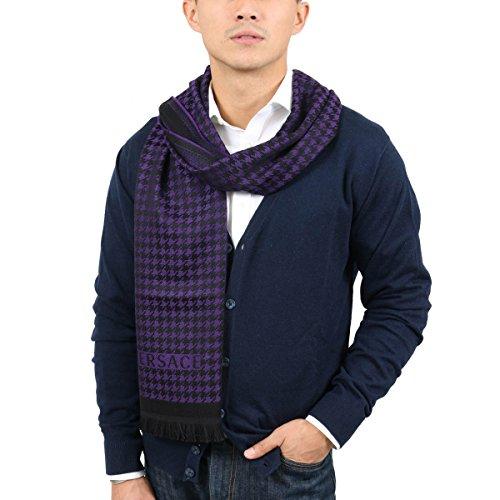 Versace IT00631 VIOLA Purple 100% Wool Mens Scarf ()