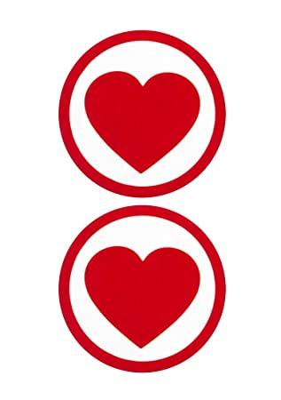 Round Heart Stickers