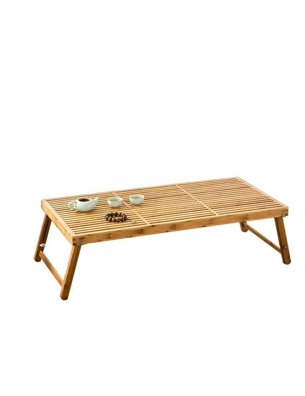 Grand  WLG Table de Bambou Pliante Table de séjour Table de thé Tables pour Ordinateur portable