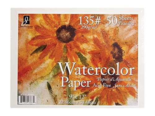 Jack Richeson 50 Pack   9' X 12' 135# Watercolor Paper Jack Richeson & Company Inc 100868