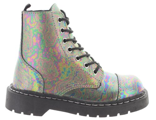 Womens k Multi Combat coloured Multicoloured T Boots u 8TWqw5EBAx