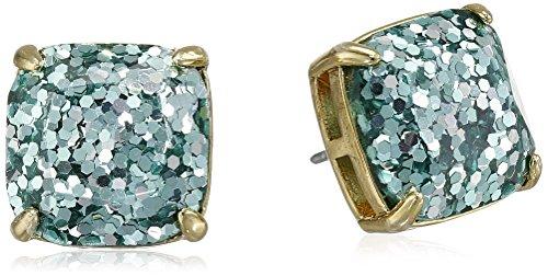 blue square stud earrings - 8