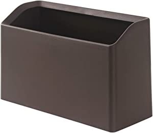 Mini Wastebasket Trash Can Bold Edition - Waste Bin for Kitchen Pantry Office Countertop Table Desktop, 100 Plastic Bags (Coffee)