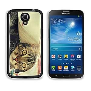Cute Cat Red White Blanket Daluwanjia Samsung Galaxy Mega 6.3 Cover Premium Aluminum Design TPU Case Open Ports Customized Made to Order