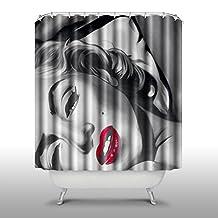 AceDIY Marilyn Monroe Home Fashions Bathroom Shower Curtain Includes Free Hooks Unique Thick shower curtain A27-7174