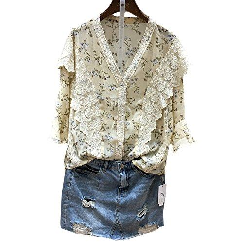 Xmy Dentelle dentelle mini corne doux tissé neige chemises imprimées manches courtes T-shirt petite fille de fleur vêtements de poupée cassée code sont