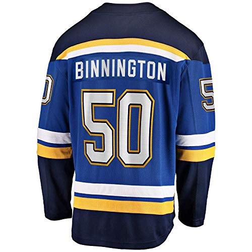 (Men's/Women's/Youth_Blues_#50_Jordan_Binnington_Blue Hockey Jersey)