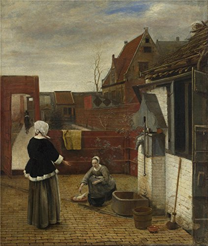 Cats Costumes Musical Tutorial (Oil Painting 'Pieter De Hooch A Woman And Her Maid In A Courtyard ' Printing On Polyster Canvas , 12 X 14 Inch / 30 X 36 Cm ,the Best Home Office Decoration And Home Decoration And Gifts Is This Amazing Art Decorative Canvas Prints)