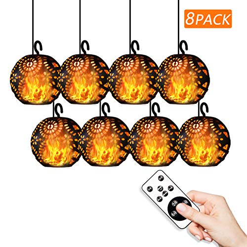 Outdoor String Lights With Remote Control Christmas Decor LED Flame Effect Lights Commercial Weatherproof Decorative Fairy String Lights for Bistro Pergola Deckyard Tents Cafe Party Room Decor